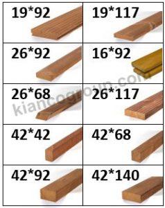 سایز چوب ترمو