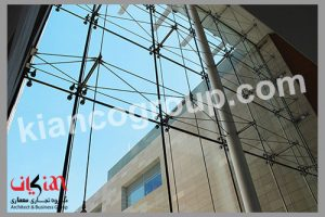 نمای شیشه اسپایدر