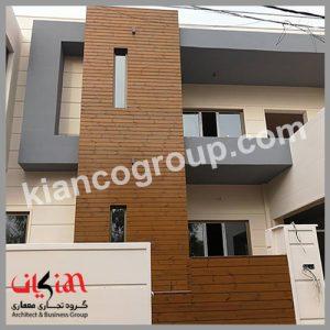 چوب ترمو در نمای ساختمان