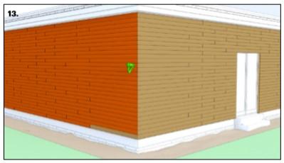 نصب افقی ترموود در نمای ساختمان