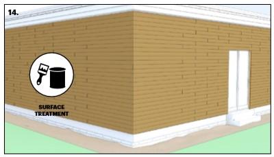 نصب چوب ترموود در نمای ساختمان