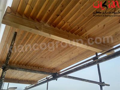 سقف چوب ترمو