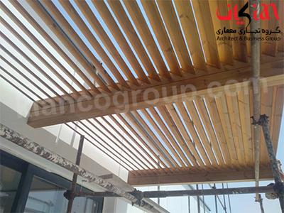 سقف چوب ترمووود