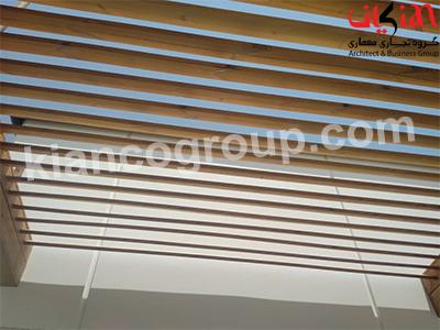 چوب ترمو در سقف